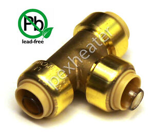 10 1 2 Tee Sharkbite Style Push Fit Copper Pex Cpvc Push n connect Lead Free
