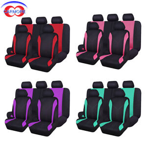 Full Set Universal Seat Covers Fit For Car Truck Van Suv Polyester Mesh 4 Colors