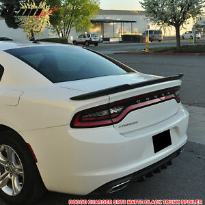For Dodge Charger Painted Matte Flat Black Spoiler Wing 2011 2018 Hellcat