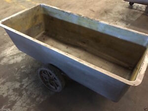 60 X 26 Stainless Steel Tub Tank Transport Cart