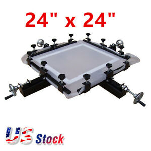 Usa 24 X 24 High Precise Screen Stretching Machine Screen Printing Stretcher