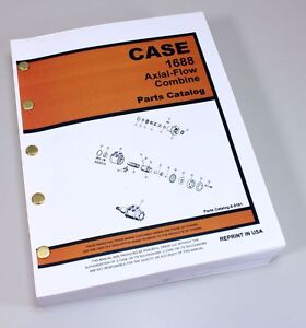 Case Ih 1688 Axial flow Combine Parts Manual Catalog Exploded Views Numbers