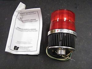 Federal Signal Model Fireball Ii Fb2pst 240v Nib Red Safety Light Strobe Beacon