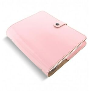 Filofax Original Organizer A5 Patent Rose Leather Made In The Uk Ay 022598