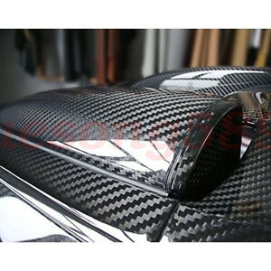 3d 4d 5d 6d Glossy Carbon Fiber Wrap Vinyl Decal Film Sticker Car Air Release