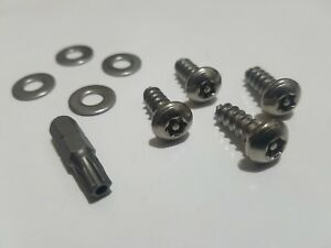 Theft Deterrent Security License Plate Screws Stainless Steel For Ford Car Truck
