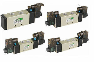 Air Pneumatic Solenoid Valve 3 Position 5 Way 1 2 4v430c 15 f dc24v Fonray