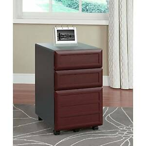 Ameriwood Home Pursuit Mobile File Cabinet Cherry gray