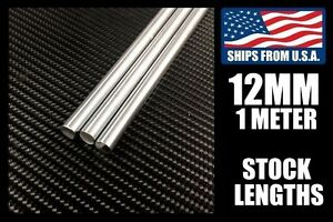 12mm X 1000mm Linear Shafts rods Hard Chrome Meter Stock For Cnc 3d Printers