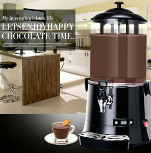 Ce 10l Hot Chocolate Machine Electric Dispenser Bain Marie Mixer Wine 220v 110v