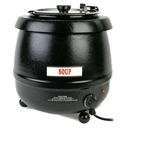 Commercial Kitchen Cooking And Warming Equipment 10 5 Qt Black Stew Soup Warmer