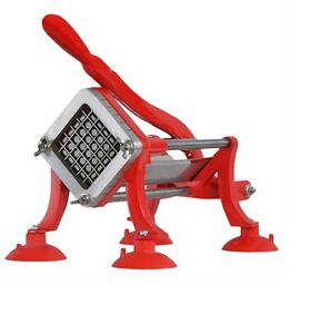 New Commercial Grade Red French Fry Cutter Potato Slicer One Half Inch Blade