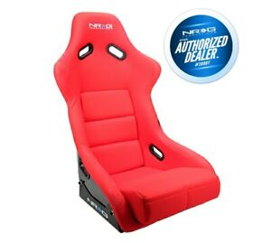 Nrg Large Fiberglass Bucket Seat Red Cloth W Nrg Logo