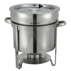 Stainless Steel Soup Warmer 11qt Table Top Food Warmer Catering Buffet Server