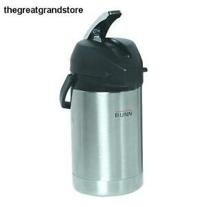 Thermal Carafes 2 5 Liter Lever action Airpot Stainless Steel Coffee Capacity
