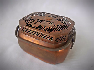 Antique Chinese Copper Hand Warmer Jian Ding Wax Seal 4 W Provenance 6