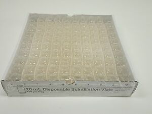Kimble 20ml Disposable Scintillation Vials Unattached Screw Cap Vw7451 20