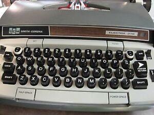 Vintage Electric Smith Corona Electra 210 Typewriter Case And Warranty