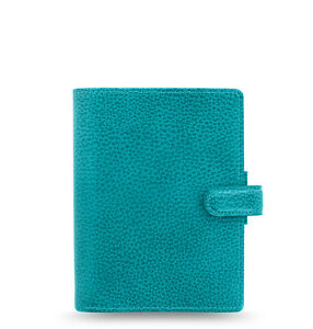 Filofax Pocket Finsbury Leather Organizer planner Aqua 025445 2018