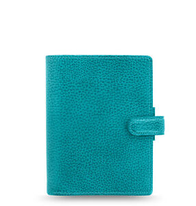 Filofax Pocket Finsbury Leather Organizer planner Aqua 025445