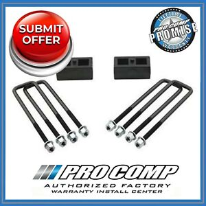 Pro Comp 63202 2 Rear Lift Block With U bolt Kit