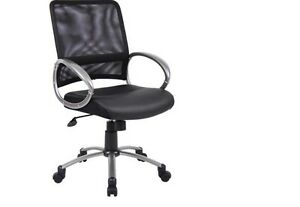 Executive Chair High Back Pewter Finish W Loop Arms Home Office Furniture Seat