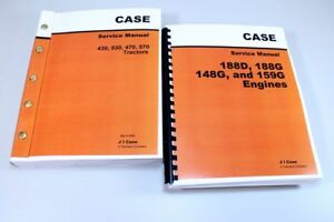 Case 430 530 470 570 Tractor Service 188d 188g 148g 159g Engine Manual Shop Book