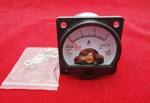 1pc Dc 0 3a Analog Ammeter Panel Amp Current Meter So45 Cutout 45mm