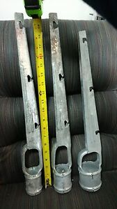 1 5 8 X 1 5 8 Barb Wire Arm Vertical For Chain Link Fence 8pack Add Height