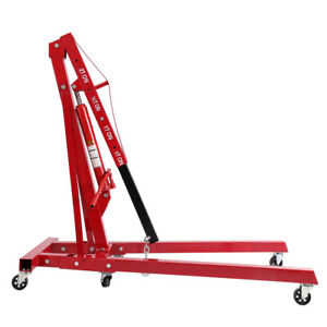 2 Ton 4400 Lbs Foldable Hydraulic Engine Hoist Shop Crane Jack Lift Heavy Duty