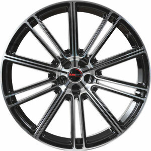 Set Of 4 Gwg Wheels 20 Inch Staggered Black Machined Flow Rims 5x108 Et38 42