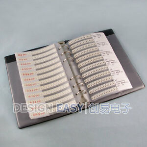 1206 Smd Capacitor Kit 38values X50pcs 1900pcs Smt Assortment Pack Box Book