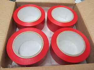 12 New Rolls Cantech 2 X 36 Pvc Color Red Line Marking Vinyl Tape 571 02