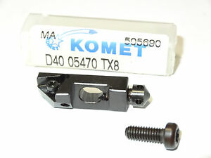 New Komet D40 05470 Tx8 Indexable Insert Toolholder Cartridge Tool Holder 505690