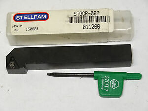 New Stellram Stgcr 082 Indexable Turning Toolholder Right Rh Tool Holder 011266