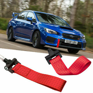 Sports Red Jdm Style Towing Strap Tow Hole Adapter For Subaru Brz Wrx 2013 2018