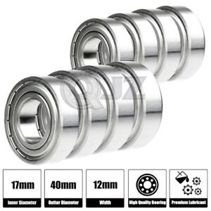 8x Ss6203 zz Ball Bearing 17mm X 40mm X 12mm Metal Sealed Stainless Steel New