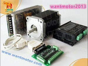 Us Free Ship cnc Kit Wantai 1axis Nema34 Stepper Motor 1700oz in 6a driver 350w
