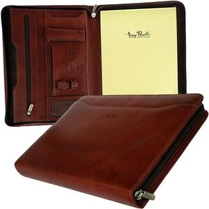 Tony Perotty A4 Writing Case Rv Conference Folder Leather Briefcase