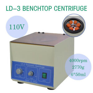 Top New 4000rpm 6 50ml Ld 3 Electric Benchtop Centrifuge Lab Medical Practice