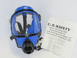 New Us Safety 120 Dual Cartridge Silicone Facepiece Air Respirator Wo Inner Mask