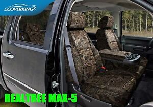 Coverking Realtree Solid Max 5 Camo Front Rear Seat Covers For Chevy Silverado