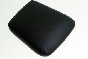 Armrest Center Console Lid Cover Real Leather For 05 09 Ford Mustang Black