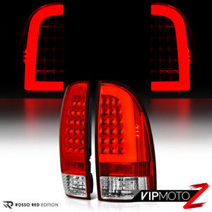 trd Style Red Led Neon Tube Rear Tail Lights Brake Lamps 05 15 Toyota Tacoma