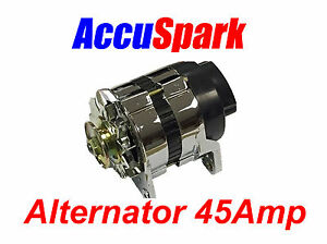 Accuspark 45amp Chrome 18acr Alternator Mg triumph ford reliant mini Many More