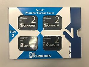 New Scan X Phosphor Storage Plate Intra Oral Psp Size 2 Adult 4 pack 73445 2