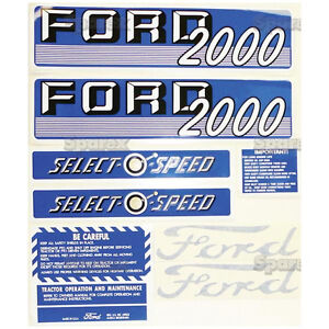 New Ford 2000 Select o speed Gas Complete Decal Set