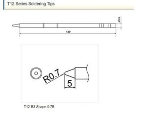 Hakko Japan T12 b3 3pcs Soldering Tips Official Products