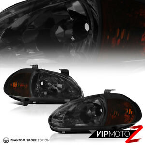 For 1993 1997 Honda Del Sol Civic Smoke Headlight corner Signal Lamp Replacement