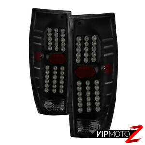 Black Smoke Led Tail Light Brake Signal Lamp For 02 06 Chevy Avalanche 1500 2500